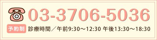 予約制:03-3706-5036